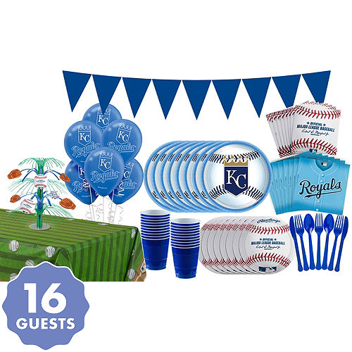 Super Kansas City Royals Party Kit For 16 Guests