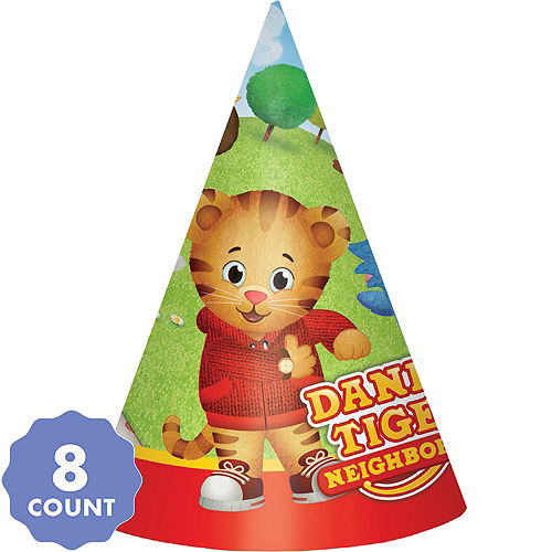 Daniel Tigers Neighborhood Party Hats 8ct