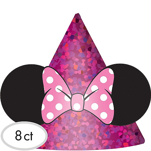 Minnie Mouse Party Hats 8ct