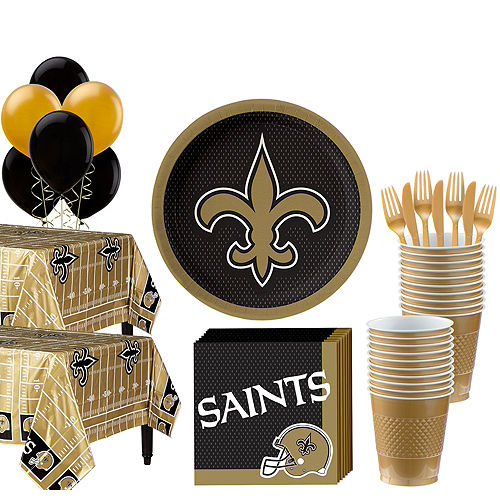 Super NFL New Orleans Saints Party Kit For 36 Guests