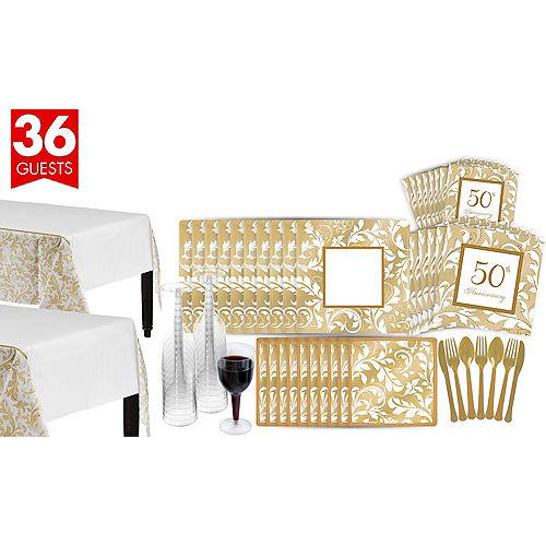 Golden 50th Wedding Anniversary Party Supplies - 50th Anniversary ...