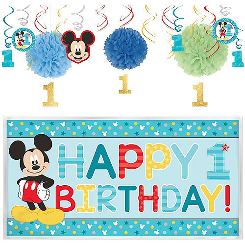 66c7d2e34fb2b Mickey Mouse 1st Birthday Party Supplies