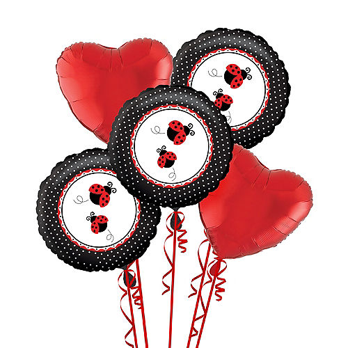 Fancy Ladybug 1st Birthday Balloon Bouquet