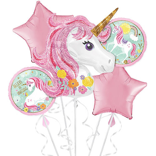 Magical Unicorn Balloon Bouquet 5pc