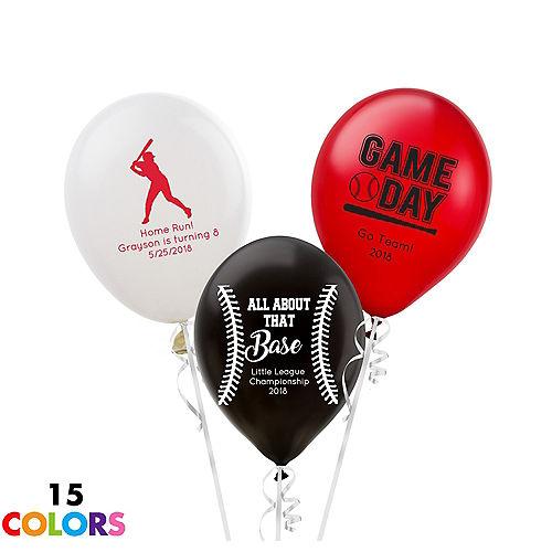 Personalized Baseball Latex Small Balloon