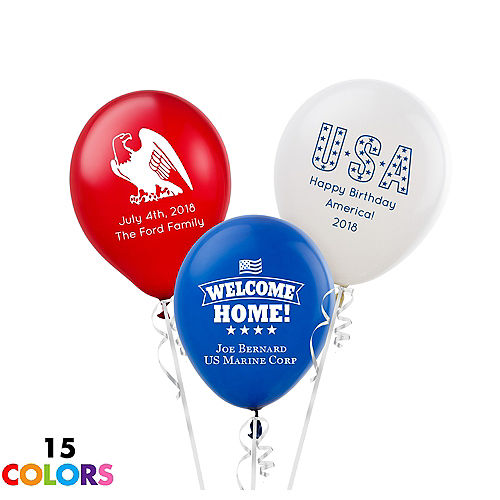 Personalized 4th Of July Latex Small Balloon