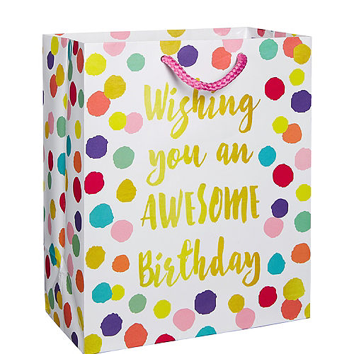 Colorful Dots Birthday Gift Bag