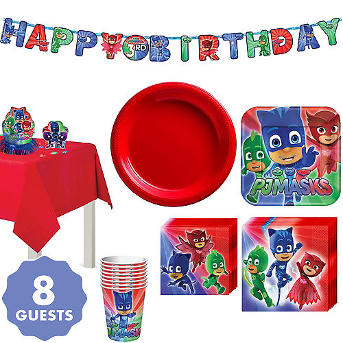 PJ Masks Tableware Party Kit For 8 Guests