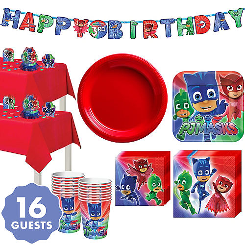 PJ Masks Tableware Party Kit For 16 Guests