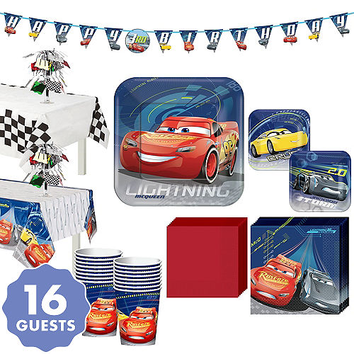 Cars 3 Tableware Party Kit For 16 Guests