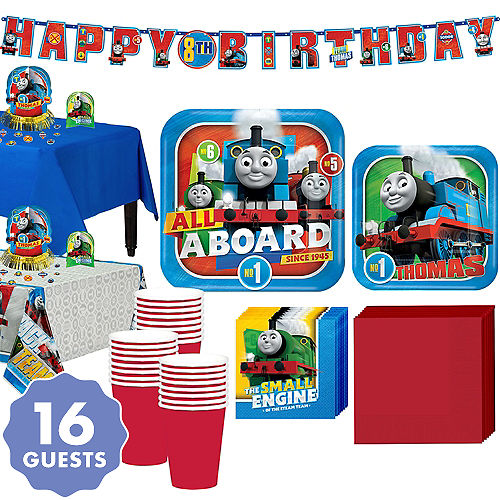 Thomas The Tank Engine Tableware Party Kit For 16 Guests