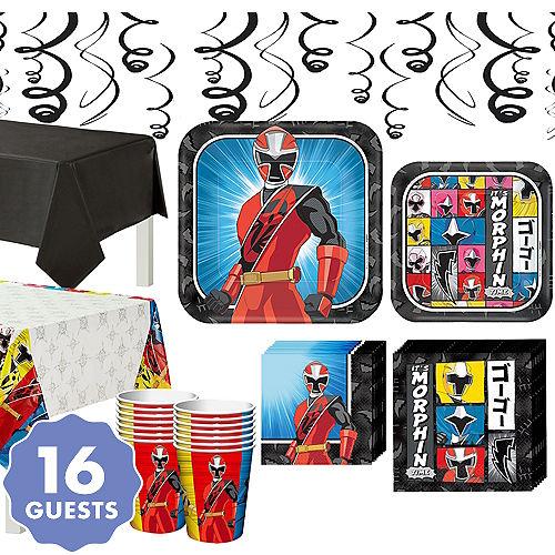 Power Rangers Ninja Steel Tableware Party Kit For 16 Guests