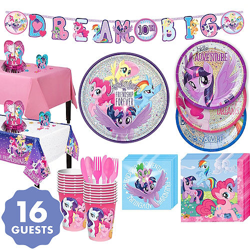 My Little Pony Tableware Party Kit For 16 Guests