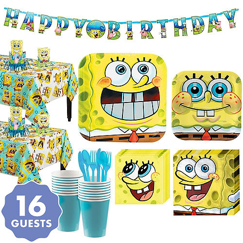SpongeBob Tableware Party Kit For 16 Guests