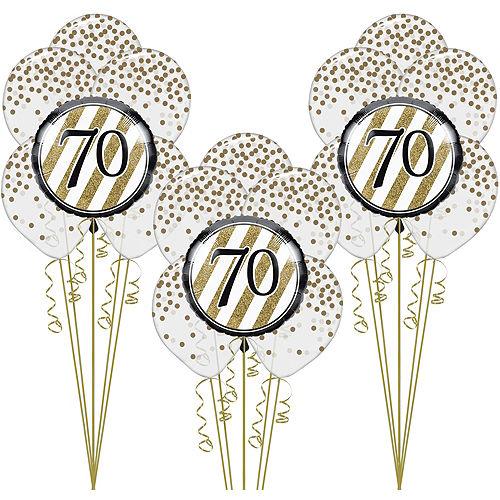 White Gold 70th Happy Birthday Balloon Kit
