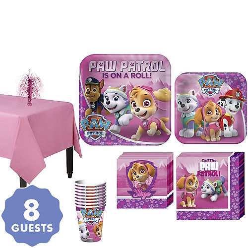 Pink PAW Patrol Tableware Party Kit For 8 Guests