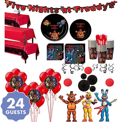 Five Nights At Freddys Tableware Ultimate Kit For 24 Guests