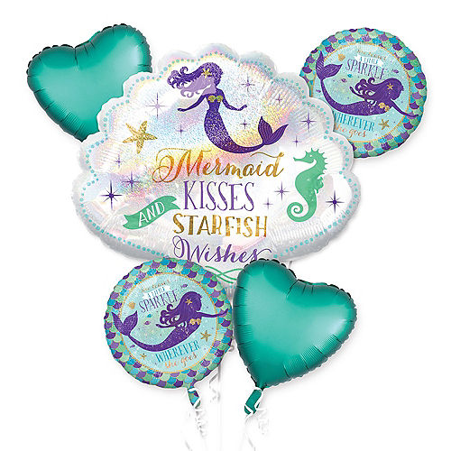 Wishful Mermaid Balloon Bouquet 5pc