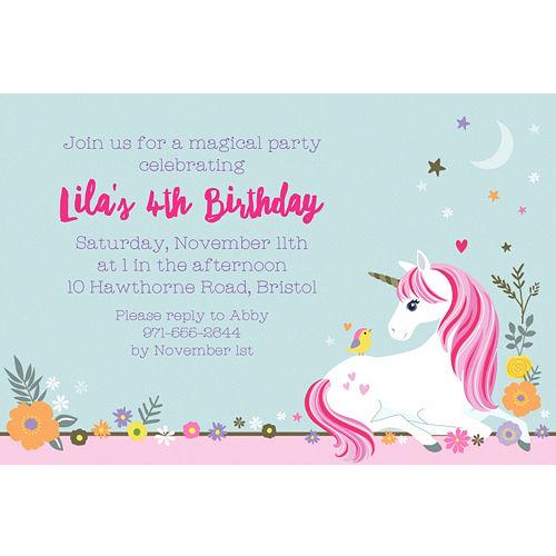 Custom Magical Unicorn Invitation
