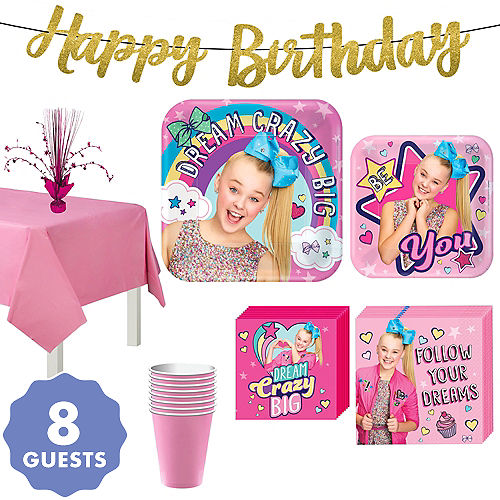 JoJo Siwa Basic Party Kit For 8 Guests