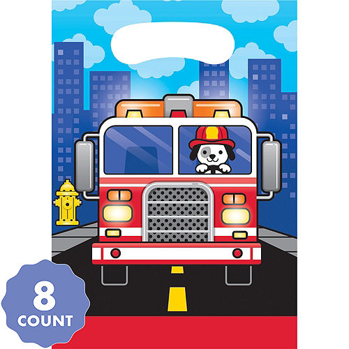 Fire Truck Favor Bags 8ct