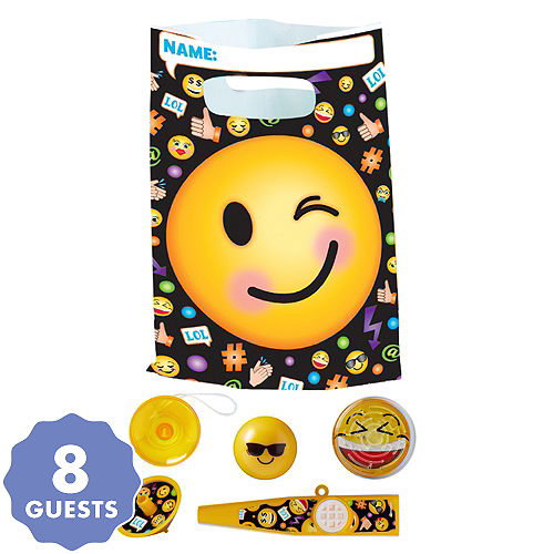 smiley basic favor kit for 8 guests