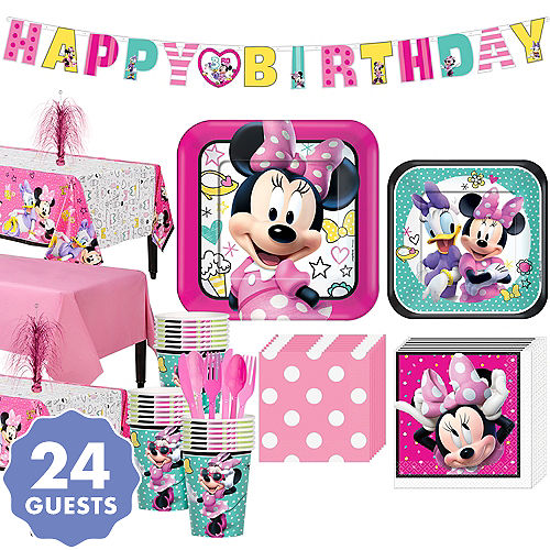 Minnie Mouse Basic Party Kit For 24 Guests