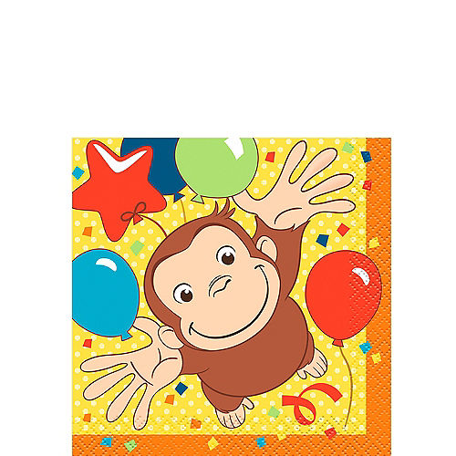 Curious George Beverage Napkins 16ct