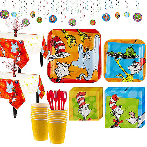 Dr Seuss Tableware Party Kit For 16 Guests