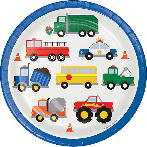Traffic Jam Tableware Truck Theme Birthday Party Party City