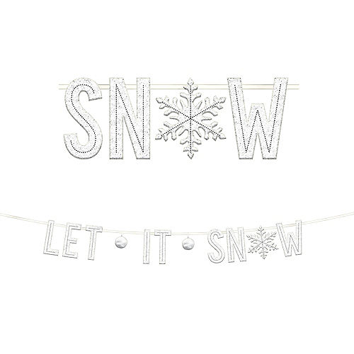let it snow letter banner