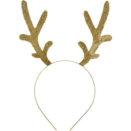 175a9bb25a873 Adult Glitter Gold Antlers Headband