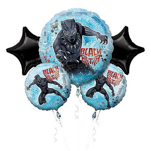 Black Panther Balloon Bouquet 5pc