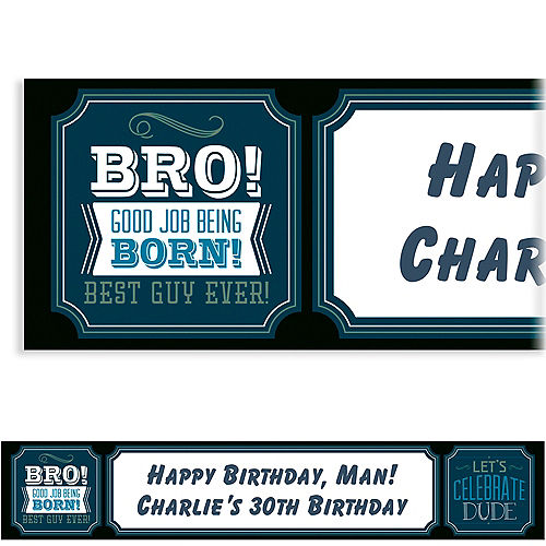 Custom Happy Birthday Man Banner