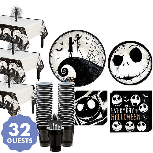 the nightmare before christmas party kit for 32 guests - The Nightmare Before Christmas Decorations