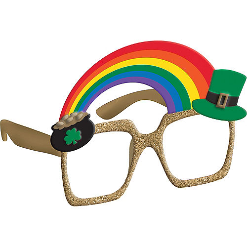 12305ef5d33 Pot of Gold   Rainbow St. Patrick s Day Glasses