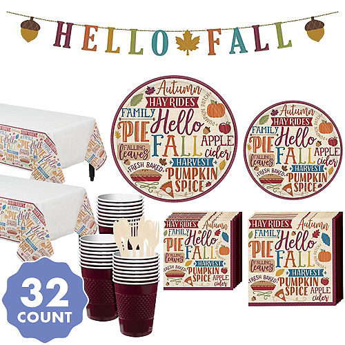 Fall Phrases Party Kit For 32 Guests
