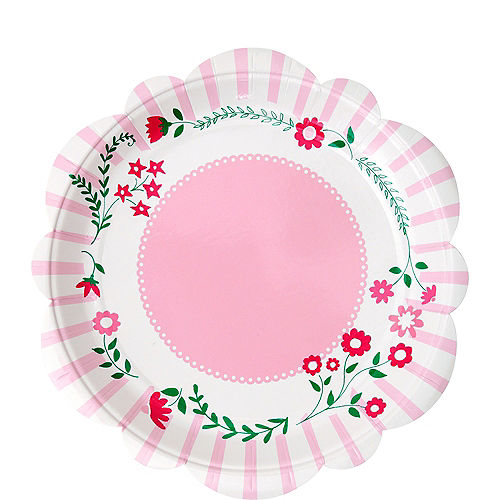 Pink Princess Dessert Plates 12ct