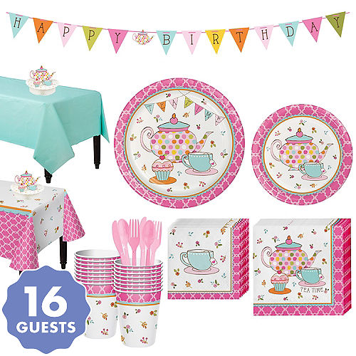 Tea Time Party Kit For 16 Guests