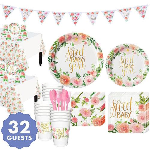 Boho Girl Baby Shower Kit for 32 Guests