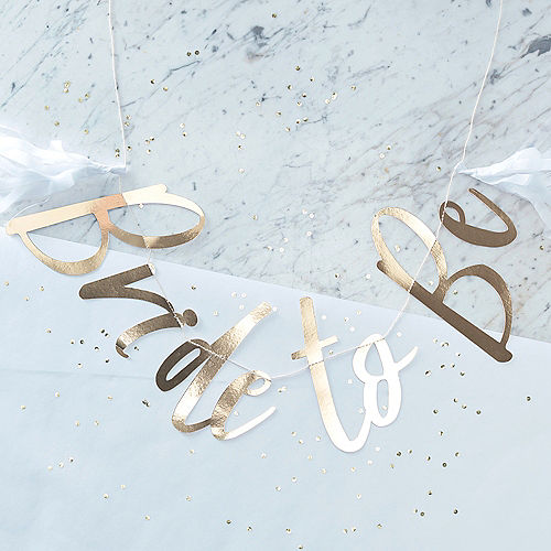 17edf4717d214d Ginger Ray Metallic Gold Bride to Be Letter Banner