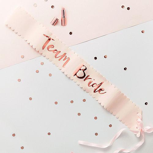 128f4585673565 Ginger Ray Metallic Rose Gold Team Bride Sashes 6ct