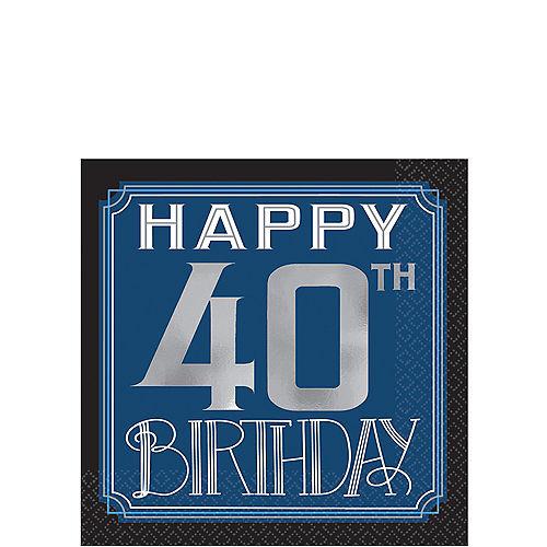 Vintage Happy Birthday 40th Beverage Napkins 16ct