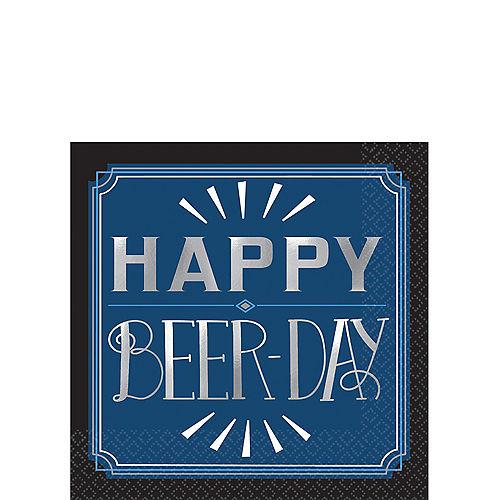 Vintage Happy Birthday Beer Day Beverage Napkins 16ct