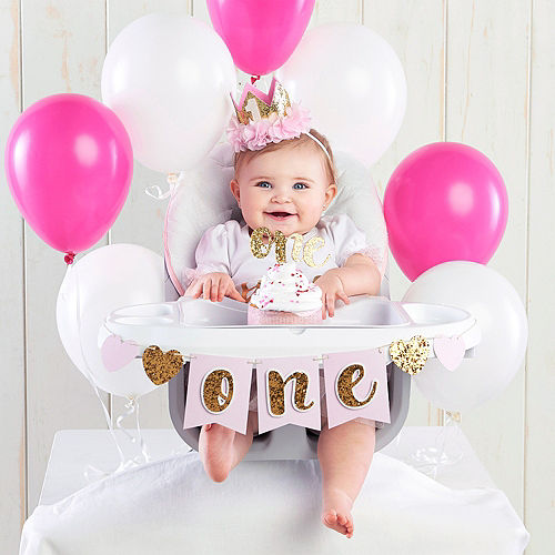 Gold Glitter 1st Birthday Decor Kit