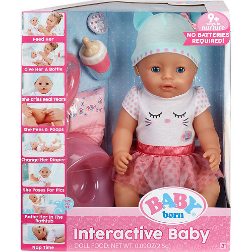 b087ff817b19 Baby Born Interactive Baby Doll with Blue Eyes
