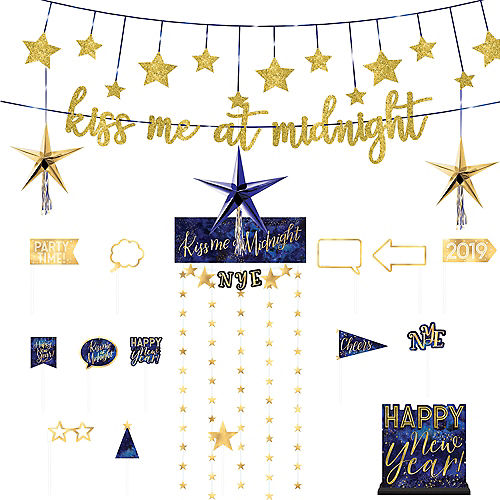 midnights kiss new years eve decorating kit