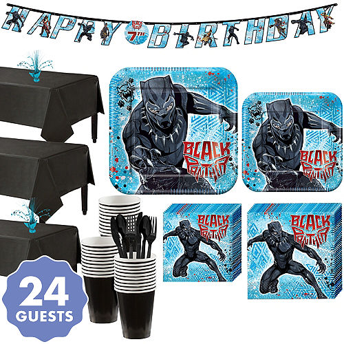 Black Panther Party Kit For 24 Guests