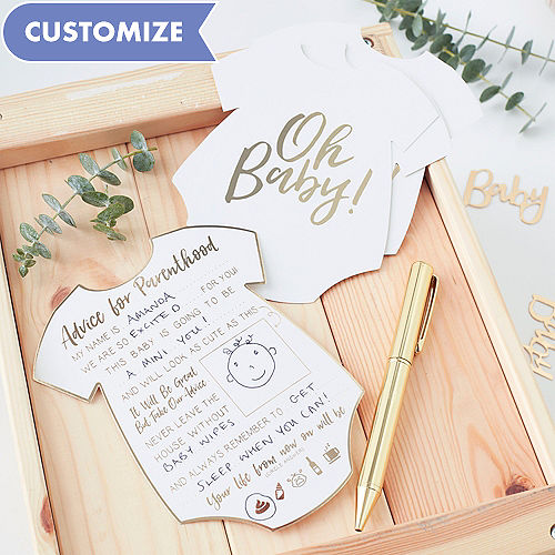 Ginger Ray Oh Baby Advice Cards 10ct
