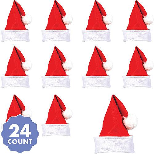 4abf13bb89cf6 Felt Santa Hats 24ct